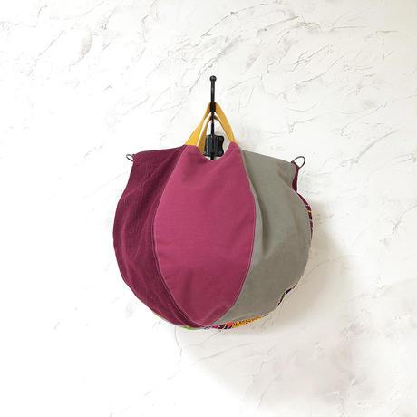 230|ブータン・手織布ボニーバッグ(size/L) 本革ショルダー付き