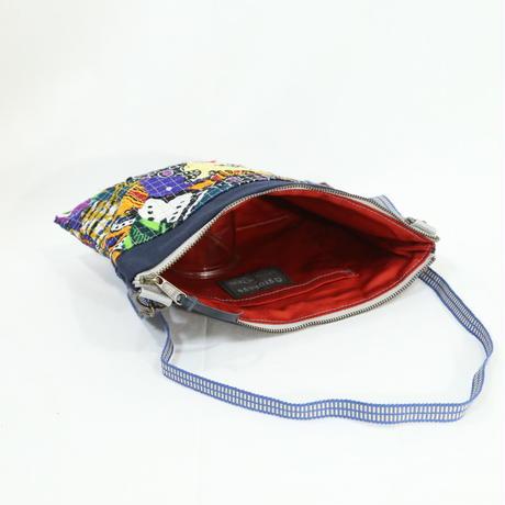 012|cut 布のかけらを集めたポーチ(Kenya)