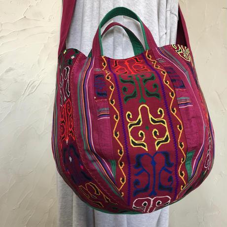 030|フィリピン・マラナオ族の伝統衣装・ボニーバッグLサイズ