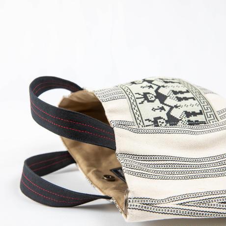 464|台湾伝統柄 ボニーバッグ(size/S)本革ショルダー付き