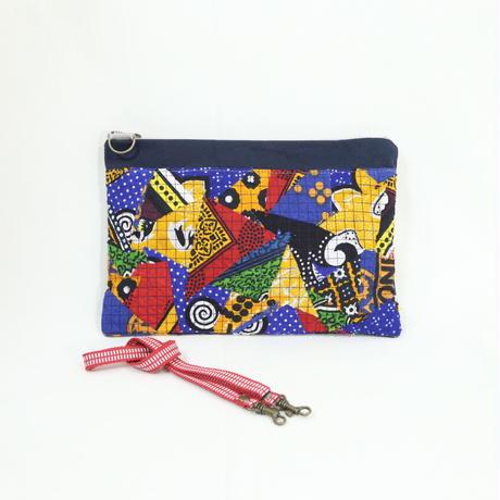 008|cut 布のかけらを集めたポーチ(Kenya)