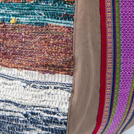 467 さをり ラオス手織りボーダー ボニートート(size/M)