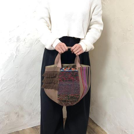 468|さをり ラオス手織りボーダー ボニートート(size/M)