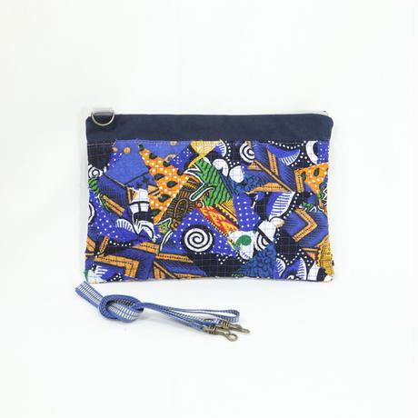 013|cut 布のかけらを集めたポーチ(Kenya)