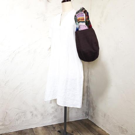 499 saoriハンドル×ラオスヘンプ ボニートート(size/M)