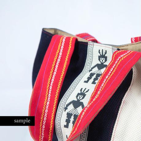 480|武州正藍染×台湾伝統柄 ボニートート(size/M)