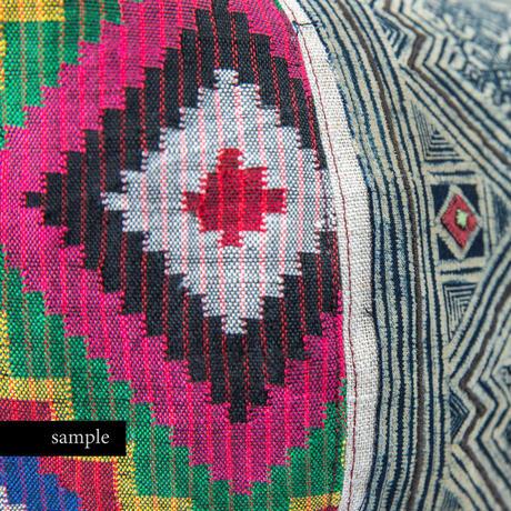433|タウスグ族・モン族・ナガ族ハンドル ボニーバッグ(size/L)
