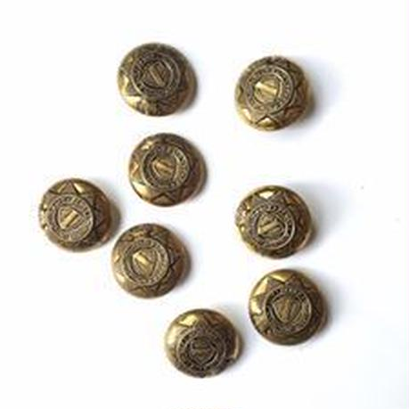 Vintage button/ヴィンテージボタン MGD031/Metal Gold/8pcs set