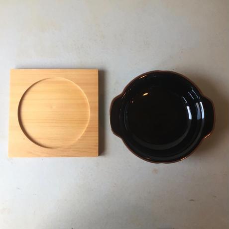 白山陶器 なつめグラタン専用木台 トリベット 鍋敷き 木の台