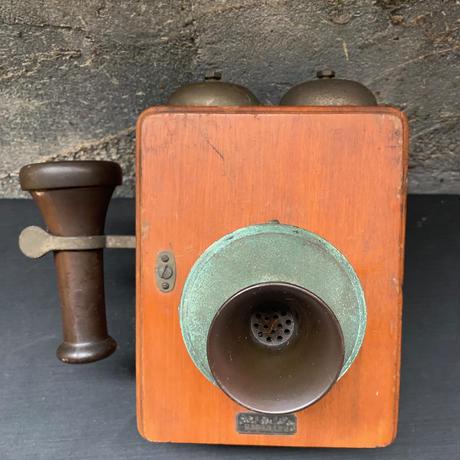 Japan vintage 大正 木製 壁掛 電話機 アンティーク レトロ 日本電氣