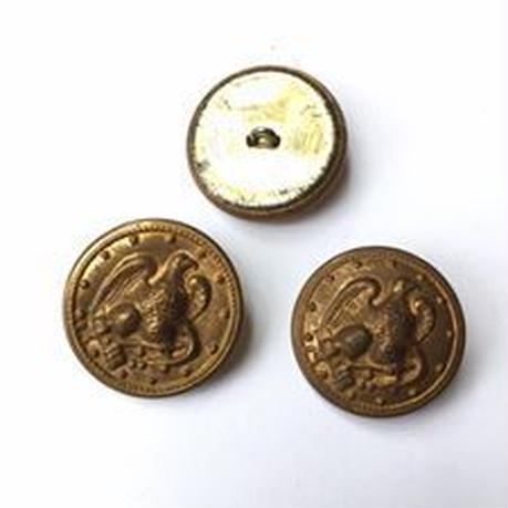 Vintage button/ヴィンテージボタン MGD015/Metal Gold/3pcs set