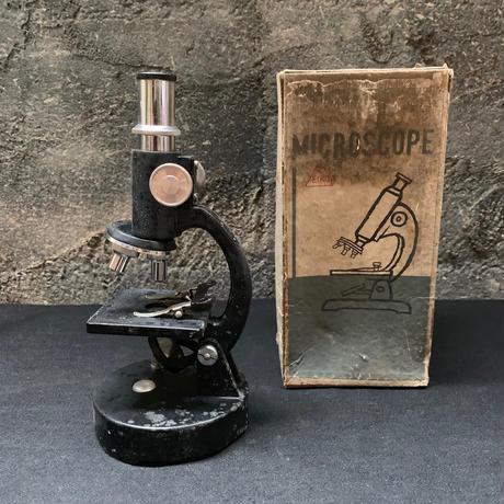 顕微鏡 アンティーク 映光社 マイクロスコープ 小型 ジャンク 古道具