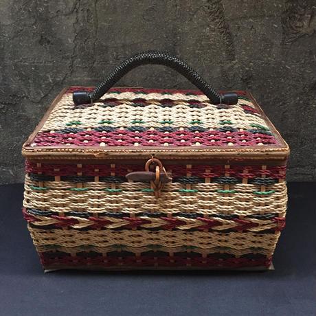 Japan Vintage ソーイングバスケット 裁縫箱 カゴバッグ ピクニック 昭和 レトロ