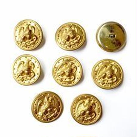 Vintage button/ヴィンテージボタン MGD002/Metal Gold/8pcs set
