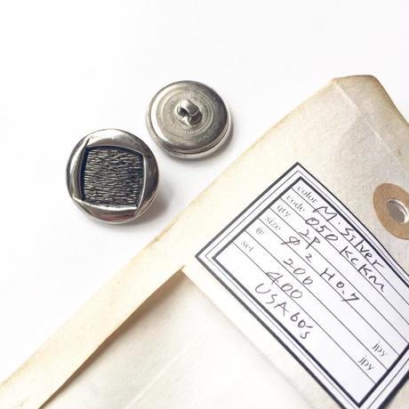Vintage button/ヴィンテージボタン MSV050/Metal Silver/2pcs set