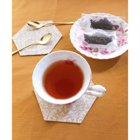 cajilence コースターと紅茶のプチギフト