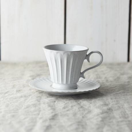 【美濃焼】カップ&ソーサー ホワイト