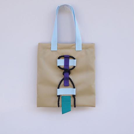 mini bag(ダークベージュ・ペールブルー)