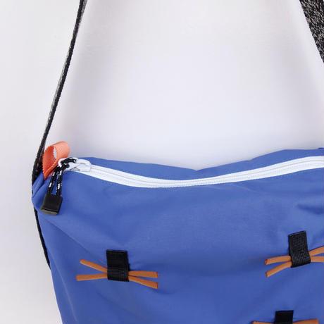 himo ribbon hand bag(ブルーパープル・キャメル)