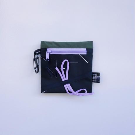 ミニポーチヒモヒモ(グリーン・ブラック)