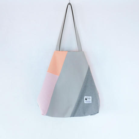 flag bag(サーモンピンク・グレー)