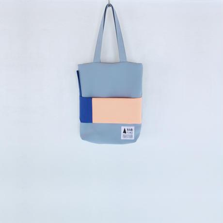 square bag(ペールブルー・サーモンピンク)