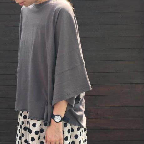 ルーズシルエットTシャツ/  merlot /0507