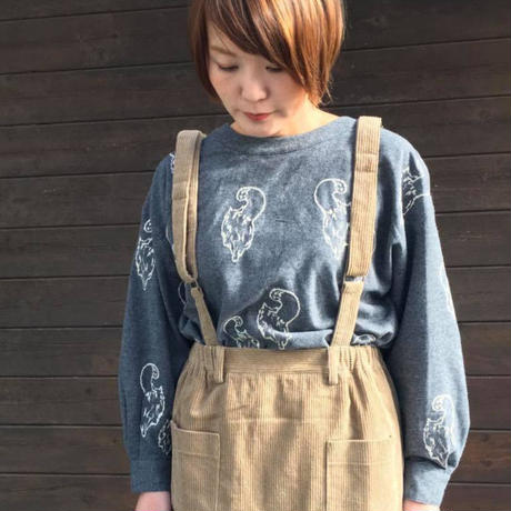 "EMBROIDERY""CAT""ブラウス/LUEUF'18AW/u300915"