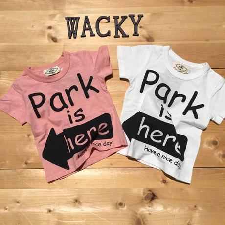 PARK IS HERE Tシャツ(140-160)/PARK'19SS/PA19-204