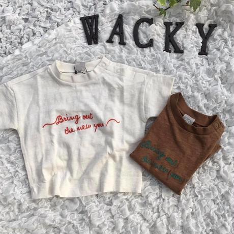 刺繍Tシャツ/DILASH'19SS/DL19ES116