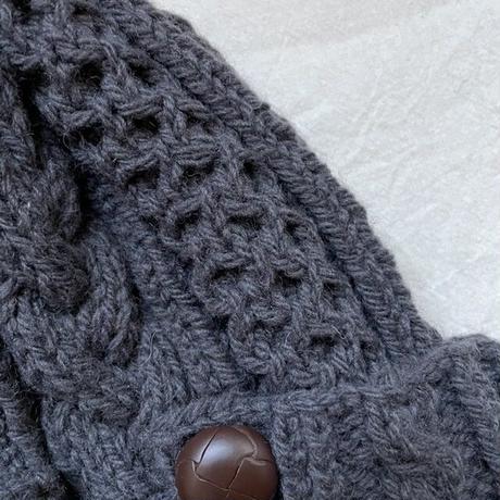 aran knit cap -アランニット帽-