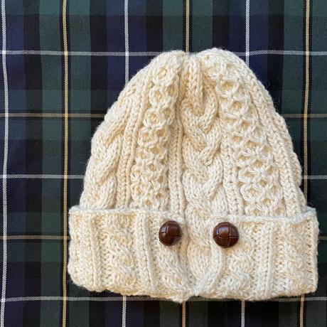 アランニット帽子 パターン(編み図)