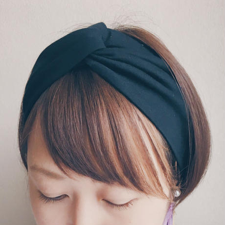 T-shirt turban Black
