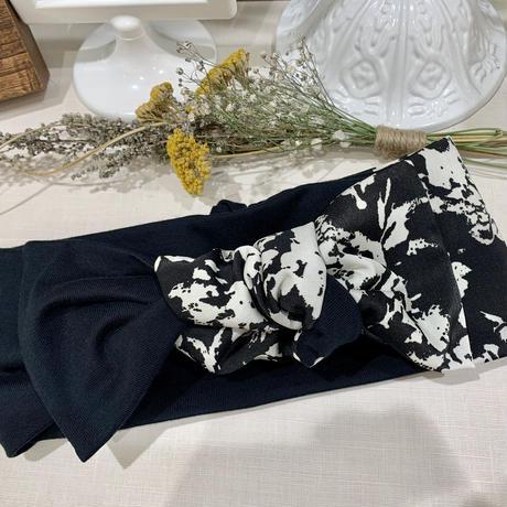 ribbon turban / MADARA × T-shirt