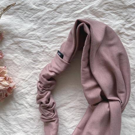 ◆ New / Peru T-shirt turban smoky Pink