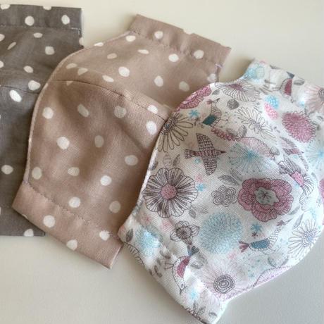 【kids mask】cotton100•double gauze /dots•camouflage •flowers etc