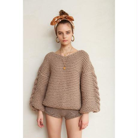 GARTER+CABLE KNIT PULLOVER(10月上旬~中旬入荷予定)