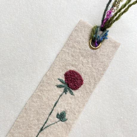 刺繍栞・蛇苺