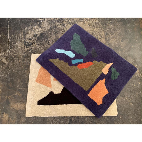 """Sandy Yang x Pacifica Collectives """"collage"""" Rug (Blue)"""