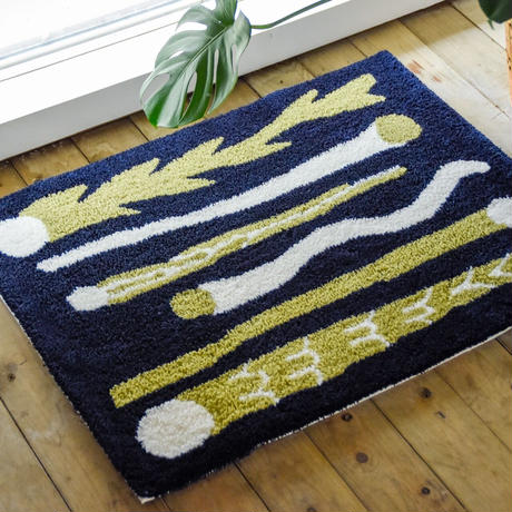 """Nathaniel Russell x PacificaCollectives """"Shooting Star"""" Rug"""