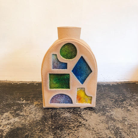 Morgan Peck Melted Doorway Stained Glass Vase A