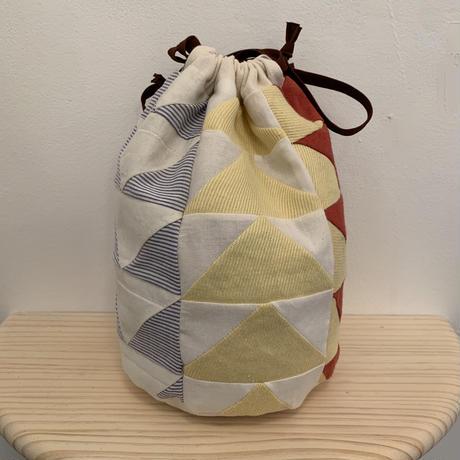 """Knitting Club"" リバーシブル巾着 NOBUE MIYAZAKI (STOMACHACHE.)"