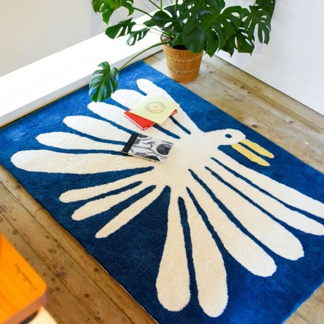 """Nathaniel Russell x PacificaCollectives """"Big White Bird"""" Living Rug (受注生産)"""