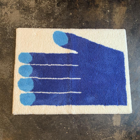 """Nathaniel Russell x PacificaCollectives """"Blue Hands"""" Rug"""
