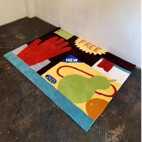 TOMOE MIYAZAKI(STOMACHACHE.) x Pacifica Collectives 「片付かないラグ」
