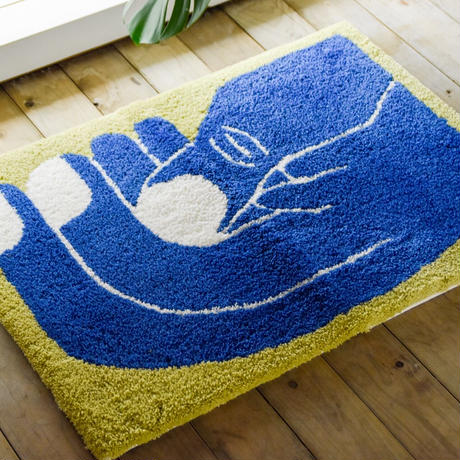 "Nathaniel Russell x PacificaCollectives  ""Grab""  Rug"
