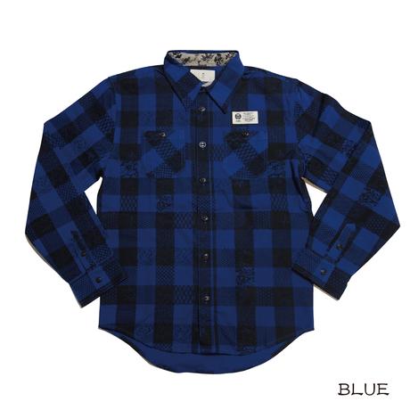 和のチェックワークシャツ KJ81411
