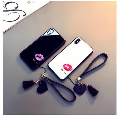 iPhoneケース おしゃれ 可愛い 大人 かっこいい セクシー 口紅