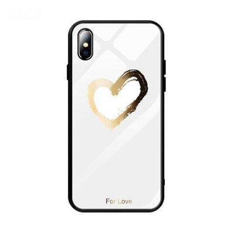 iPhoneケース おしゃれ かわいい ハート ペア ソフトケース ホワイト