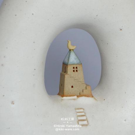 窓のある花器/空の家B